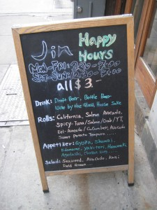 Jin Restaurant Happy Hour