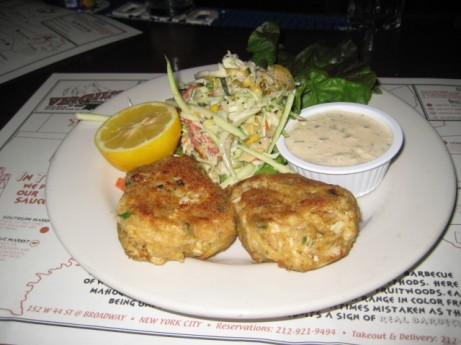 Crab Cakes at Virgil's BBQ