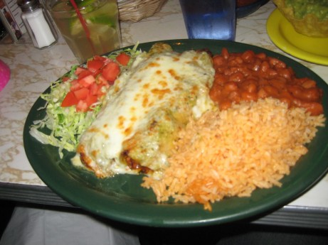 Burrito Grande at Tortilla Flats