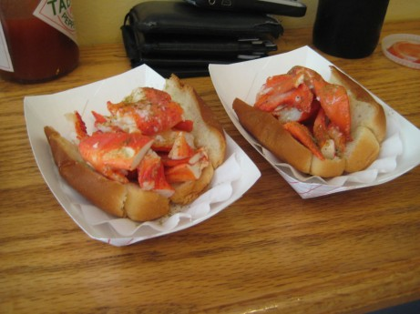 Half Lobster Rolls at Luke's Lobster