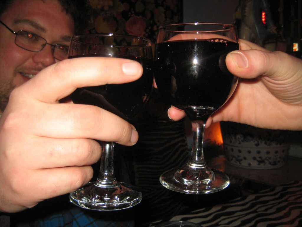 Wine at Yaffa Cafe