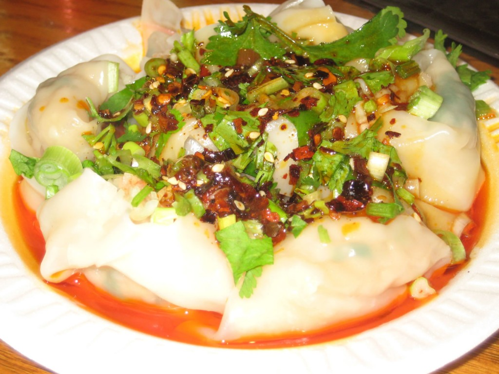 Wonton with Spicy Sauce at Vanessa's Dumpling House