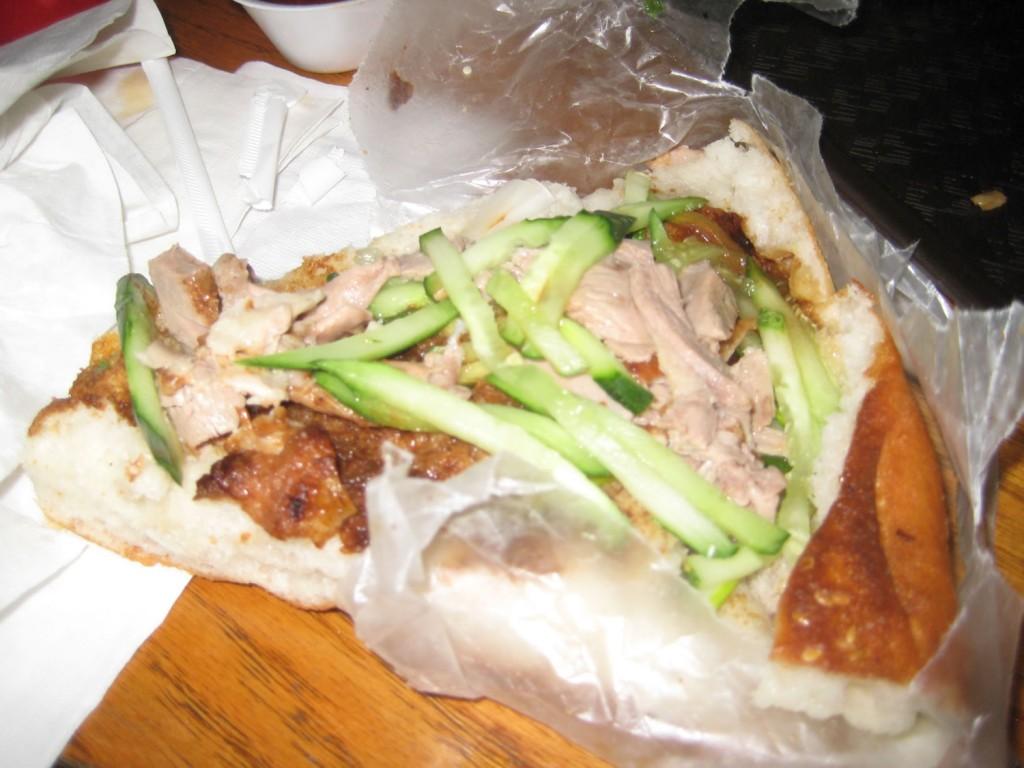 Sesame Pancake Sandwich w/Duck at Vanessa's Dumpling House