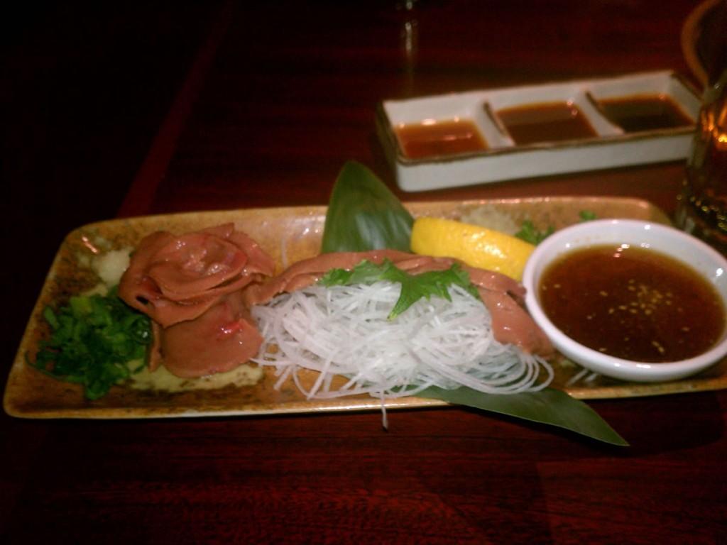 Calf Liver Sashimi