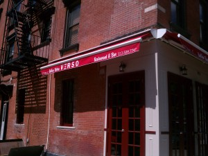 Italian Bistro Verso East Village NYC