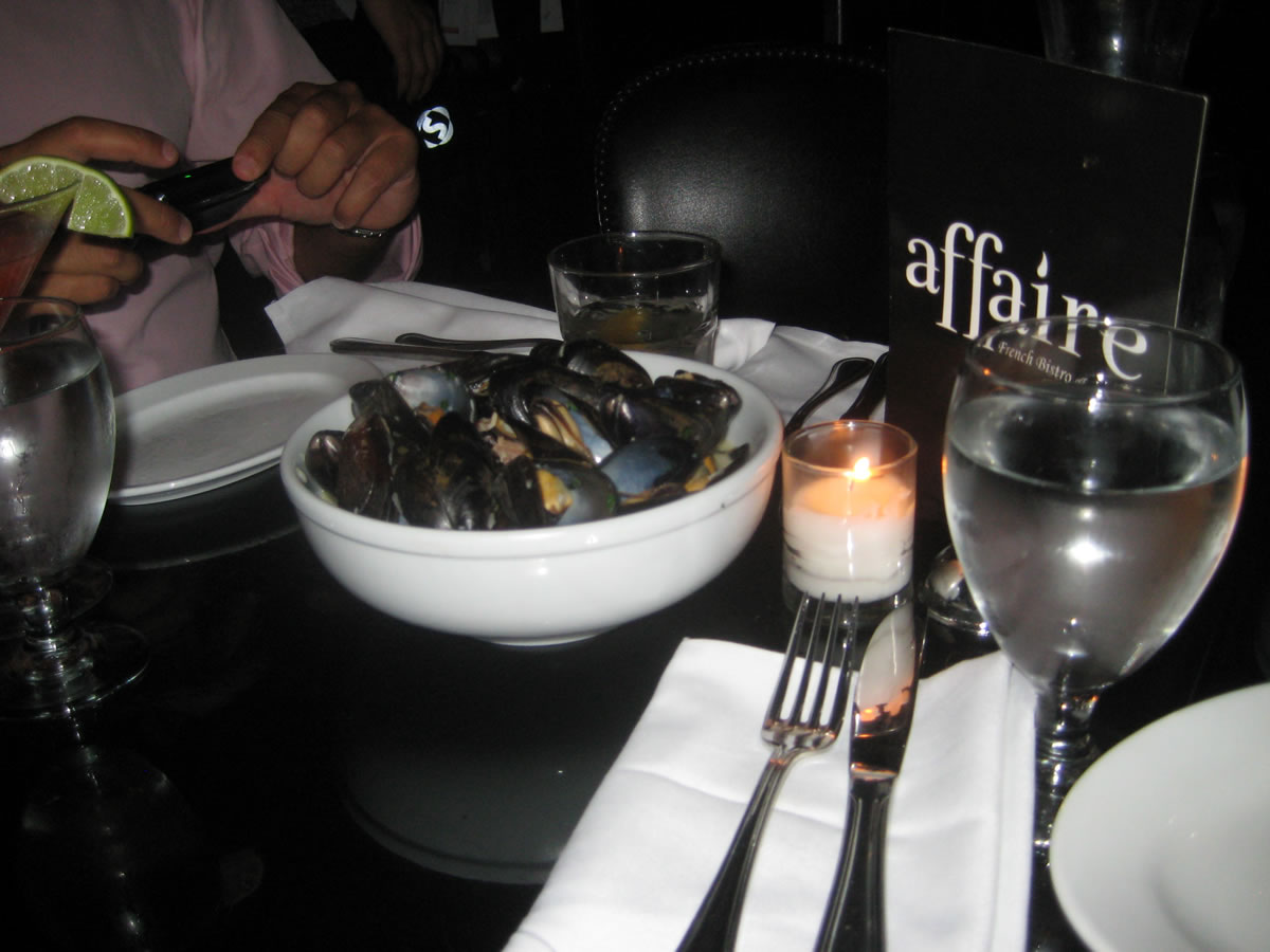 Mussels at Affaire