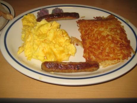 Eggs, Hash & Sausage @ IHOP, NYC