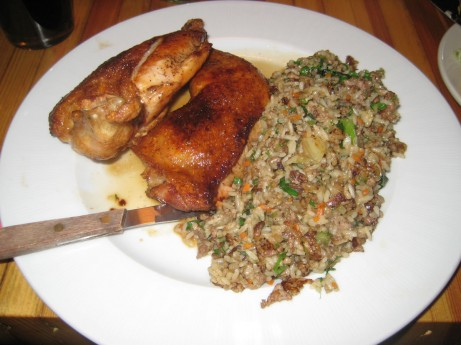 Half Chicken w/Dirty Rice @ The Brooklyn Star