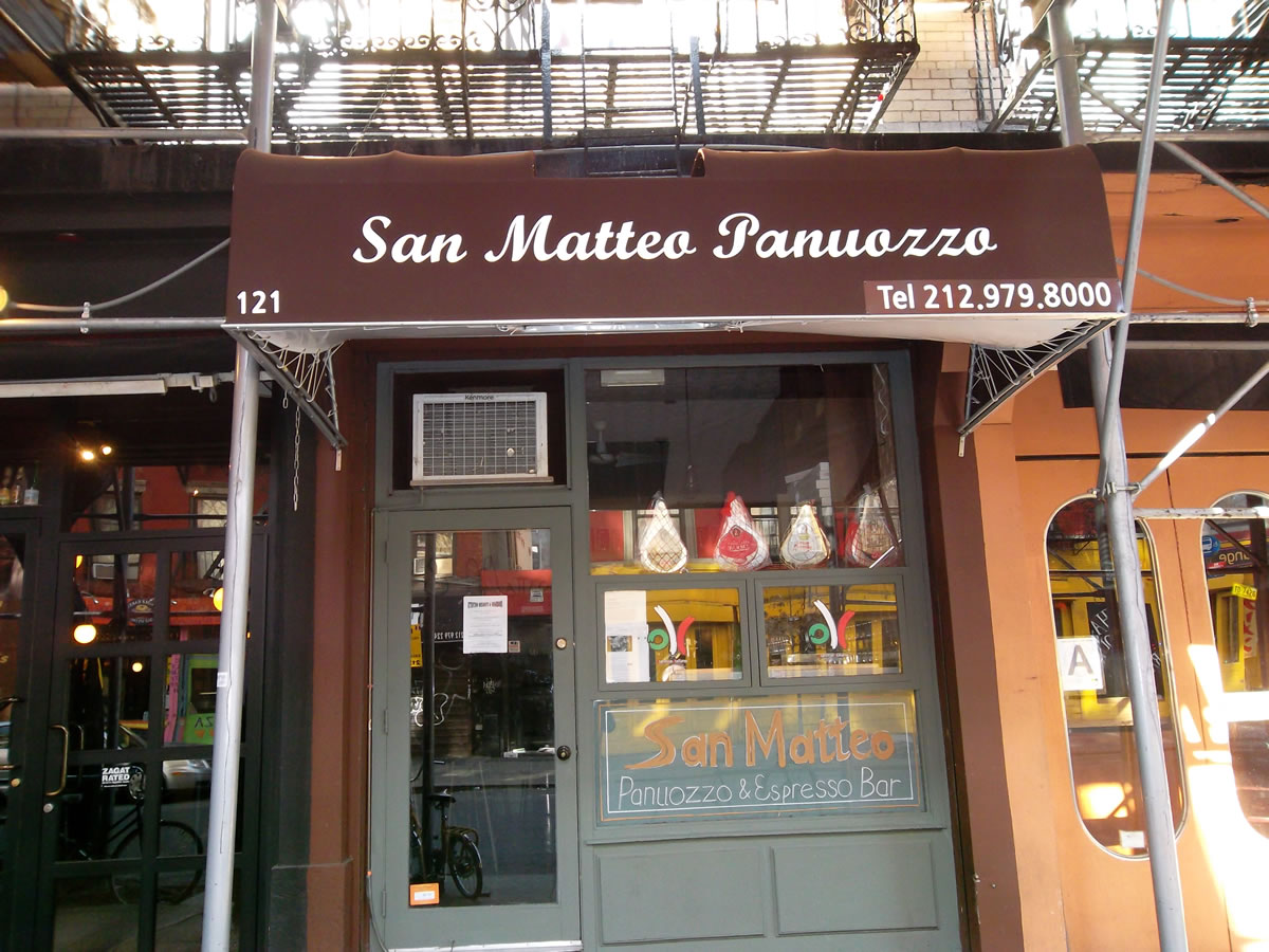 San Matteo Panuozzo coming to the East Village : East ...
