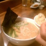Extra Spicy Ramen (Chili on the side) at Totto Ramen
