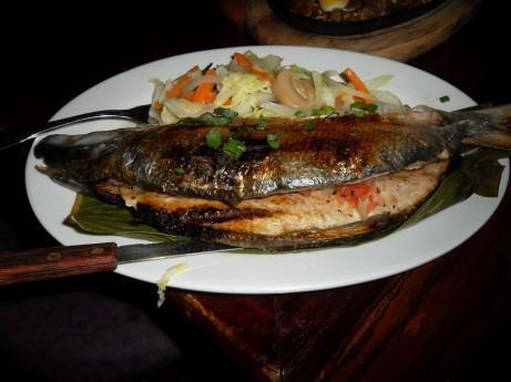 Grilled Milkfish at Sa Aming Nayon
