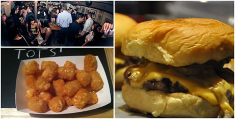 Burgers, Tots & Beer at Idle Hands