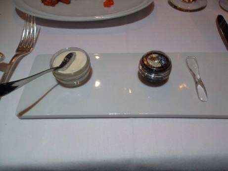 Caviar & Crème Fraiche at Petrossian