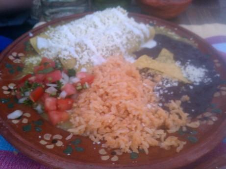 Enchiladas Rancheras at Charrito's Restaurant