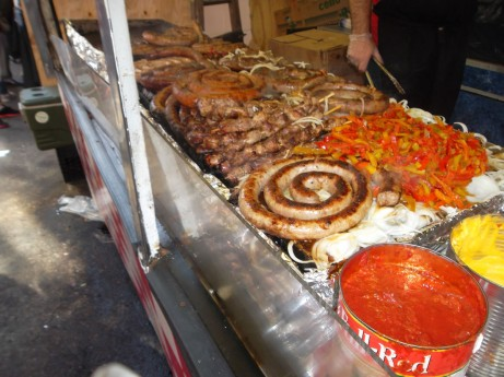 Sausages at Feast of San Gennaro