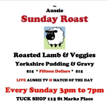 Sunday Roast at Tuck Shop