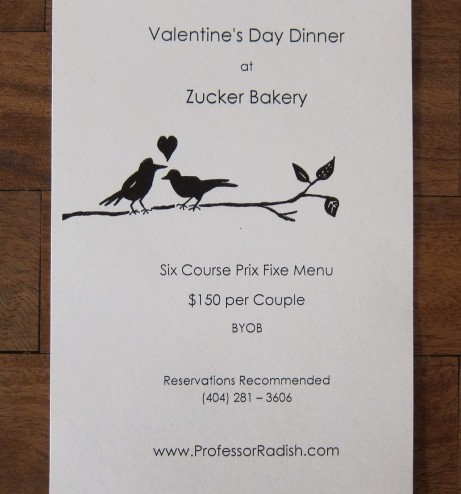 Zucker Bakery Valentines's Day
